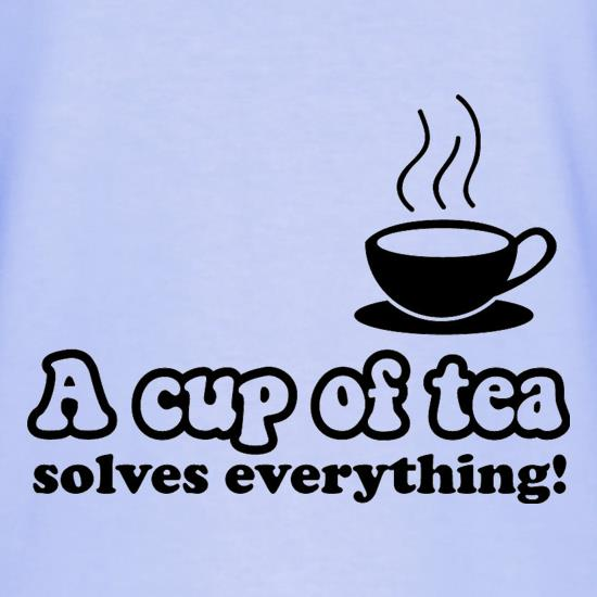A Cup Of Tea Solves Everything T-Shirts for Kids