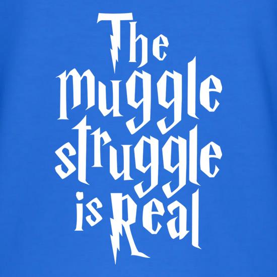 The Muggle Struggle Is Real T-Shirts for Kids
