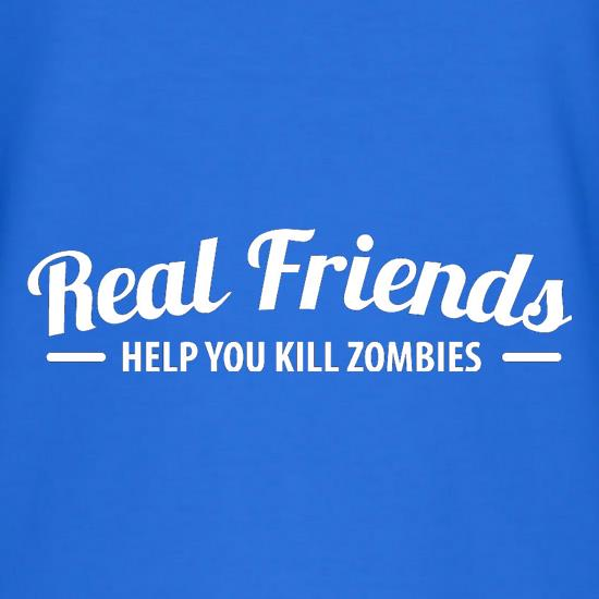 Real Friends Help You Kill Zombies T-Shirts for Kids