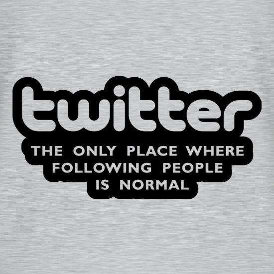 Twitter The Only Place Where Following People Is Normal T-Shirts for Kids