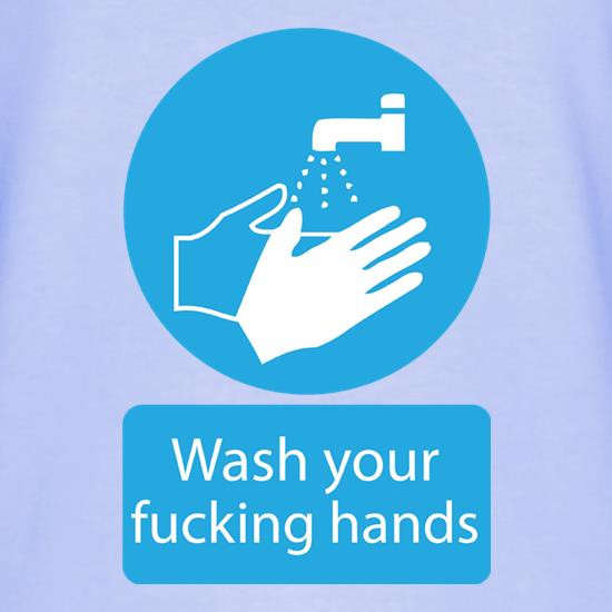 Wash Your FUCKING Hands Logo T-Shirts for Kids