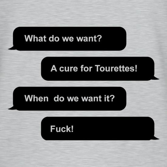 What Do We Want? A Cure For Tourettes! T-Shirts for Kids