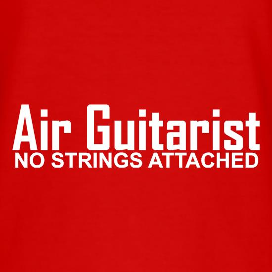 Air Guitarist - No Strings attached t-shirts