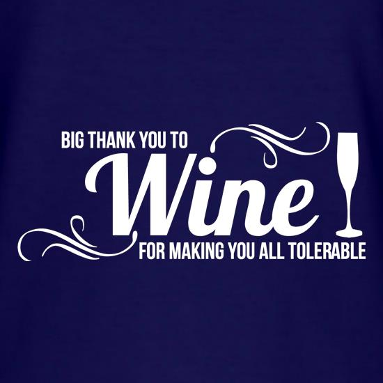 Big thank you to Wine for making you all tolerable t-shirts