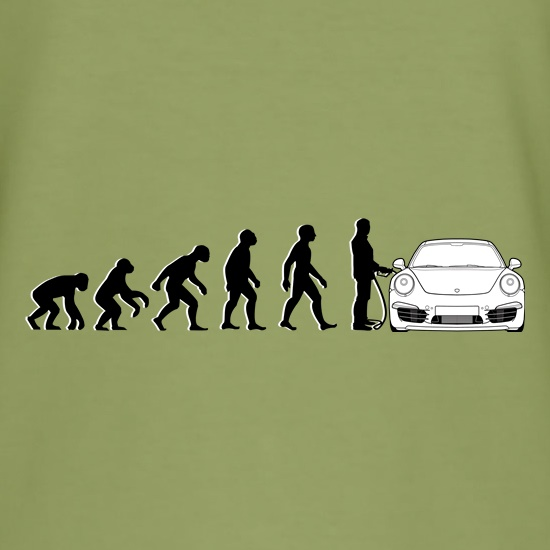 Evolution Of Man 911 Driver t-shirts