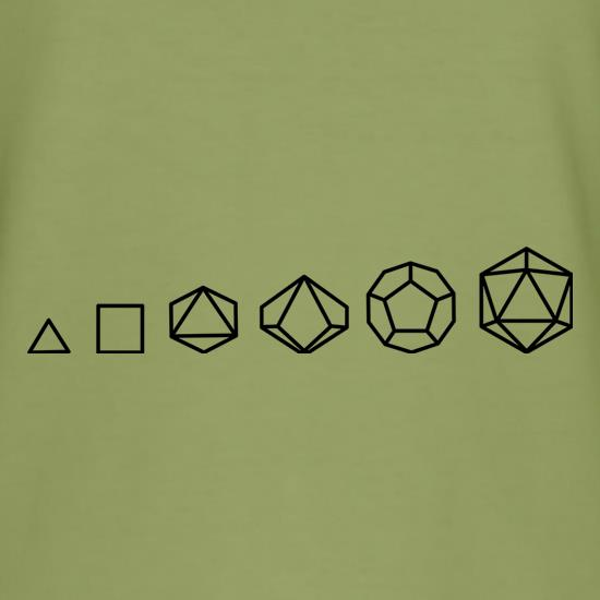 Evolution of Role Playing Dice t-shirts