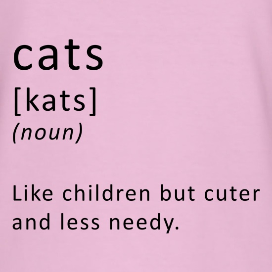 Funny Definition of Cats t-shirts