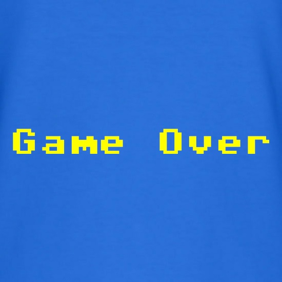 Game Over Player t-shirts