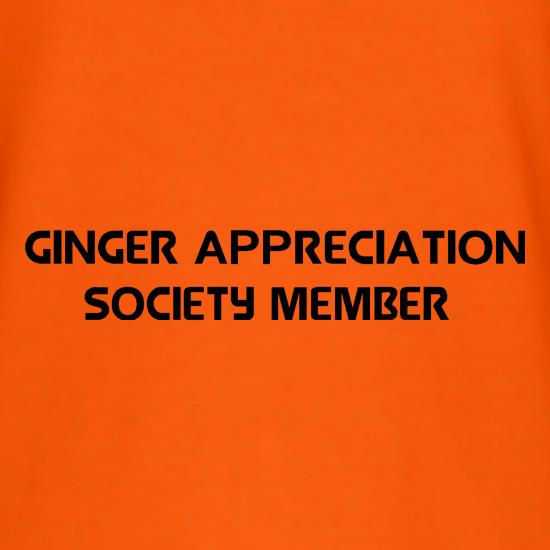 Ginger appreciation society member t-shirts