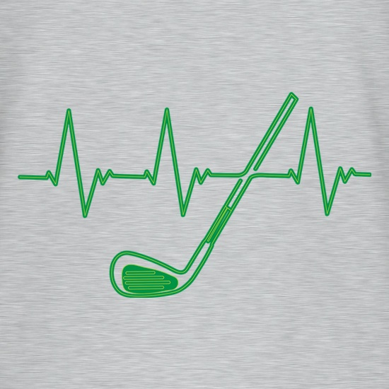 Golf Heartbeat t-shirts