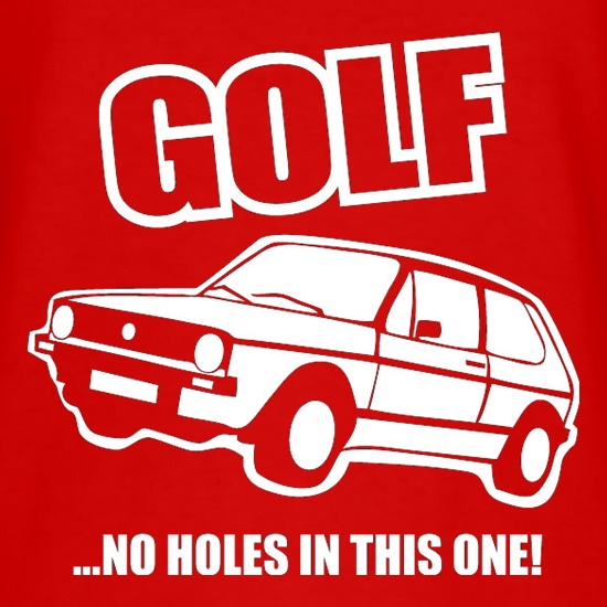 Golf...No Holes In This One! t-shirts