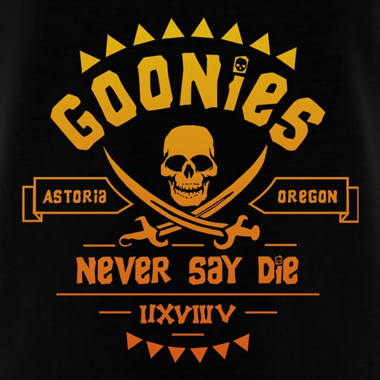 Goonies Never Say Die t-shirts