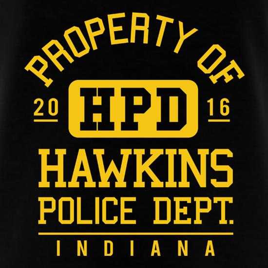 Hawkins Police Department t-shirts