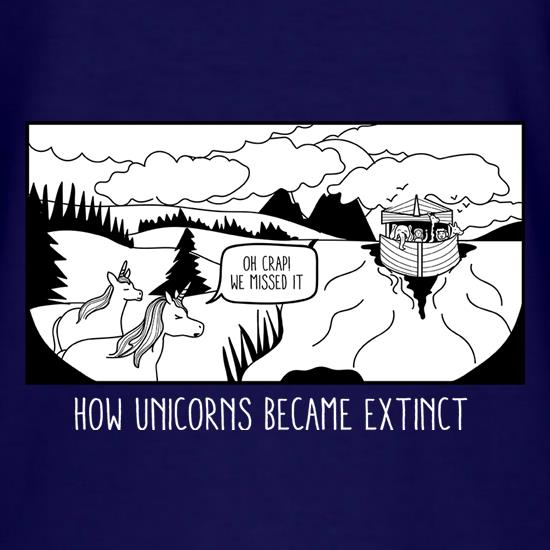 How Unicorns Became Extinct t-shirts