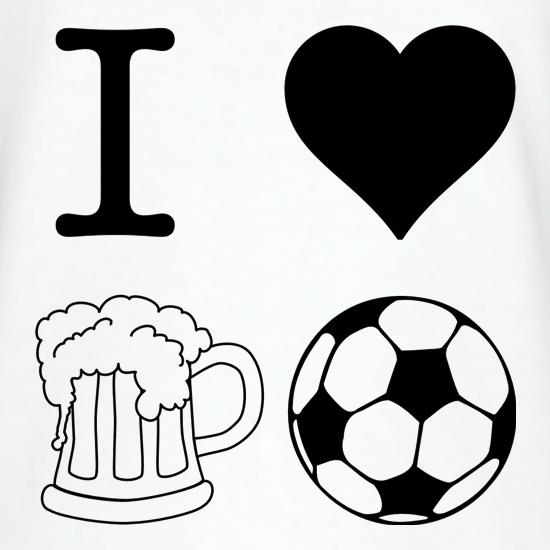 I Heart Beer and Football t-shirts