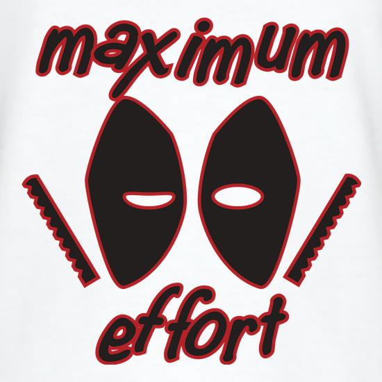 Maximum Effort t-shirts