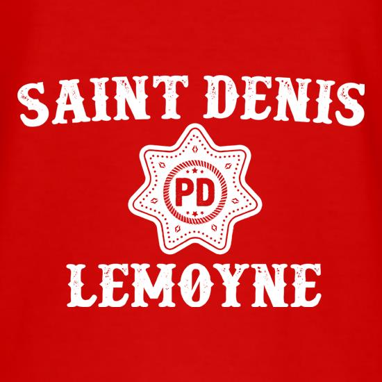 Saint Denis Police Department t-shirts