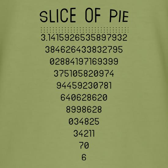 Slice Of Pi t-shirts