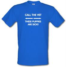Call the vet, these puppies are sick!! t shirt