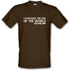 I Survived The End Of The World - 10/09/08 t shirt