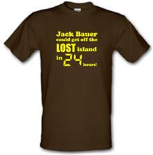 Jack Bauer could get off the Lost island in 24 hours! t shirt