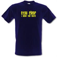 Stay clear i have the shits t shirt