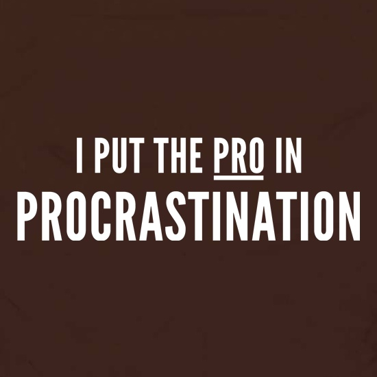 I Put The Pro In Procrastination t shirt