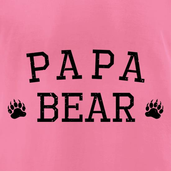 Papa Bear Paws t shirt