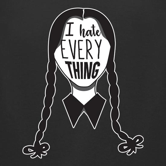 Wednesday Addams Hates Everything t shirt