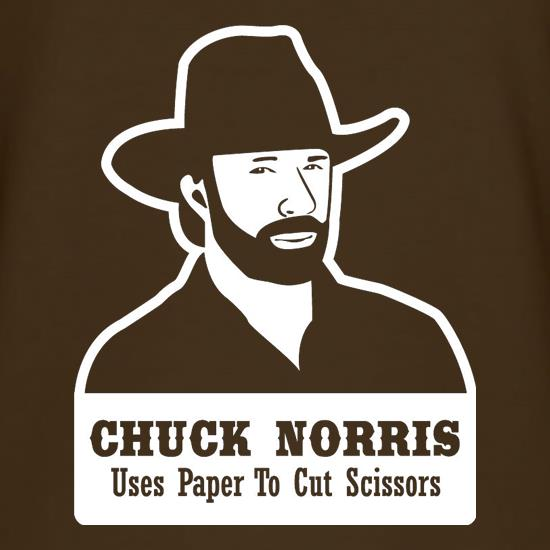 Chuck Norris Uses Paper To Cut Scissors t shirt