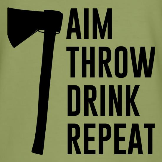 Aim, Throw, Drink, Repeat t shirt
