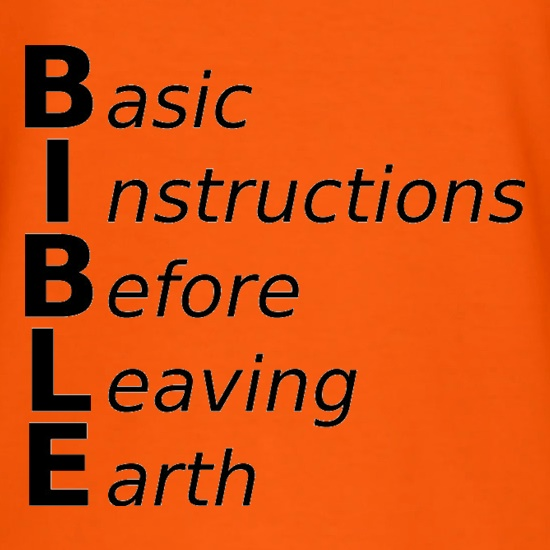 Basic Instructions Before Leaving Earth T Shirt By Chargrilled