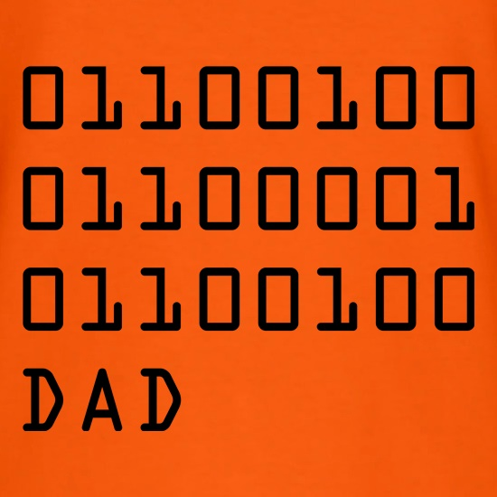 Binary Dad t shirt