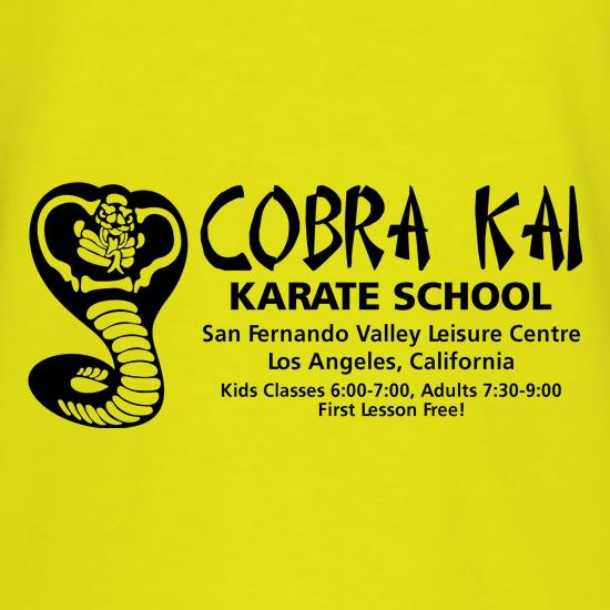 Cobra Kai Karate School t shirt