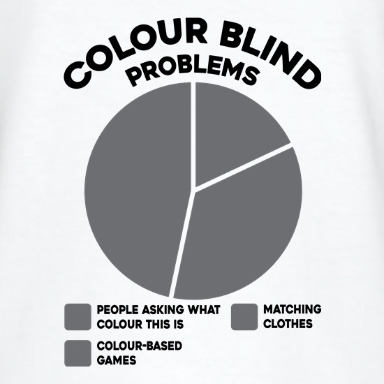 Colour Blind Problems t shirt