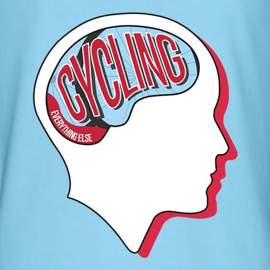 Cycling On The Brain t shirt