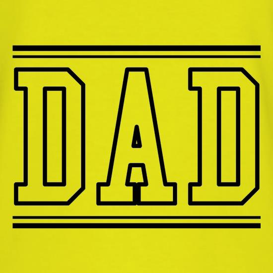 Dad  - College Style t shirt