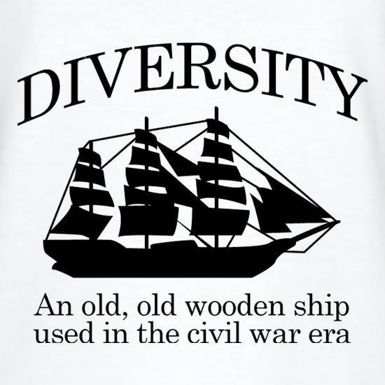 Diversity an old old wooden ship used in the civil war era t shirt what thecheapjerseys Choice Image