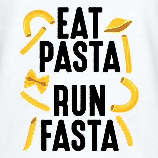 Eat Pasta, Run Fasta t shirt