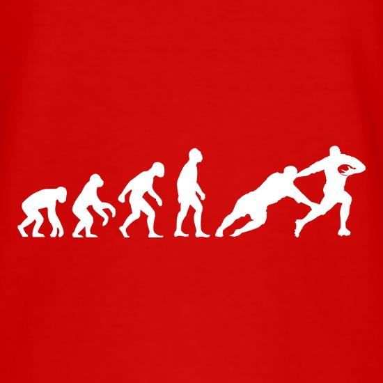 Evolution of Man Rugby t shirt