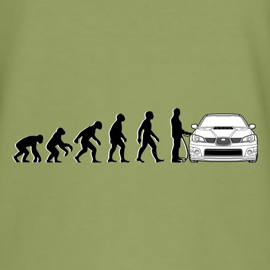 Evolution Of Man Subaru Impreza t shirt