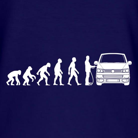 Evolution of Man T5 Campervan t shirt