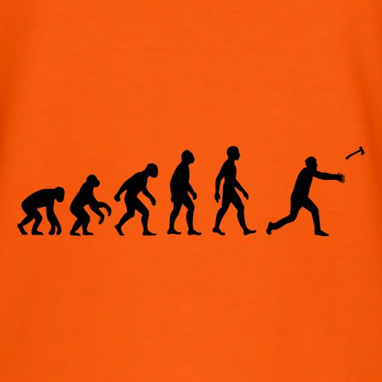 Evolution Of Man Throwing Axe t shirt