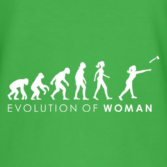Evolution Of Woman Throwing Axe t shirt