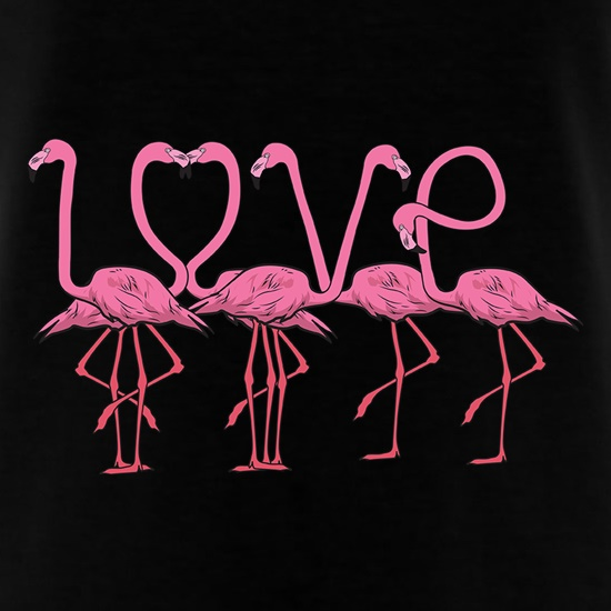 Flamingo Love t shirt