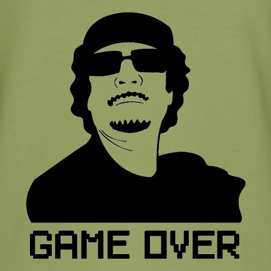 Game Over Gaddafi t shirt