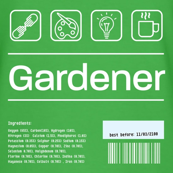 Gardener Ingredients t shirt