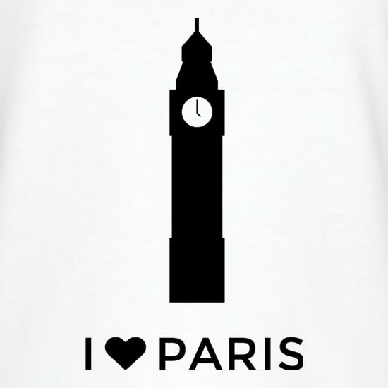 I Love Paris t shirt