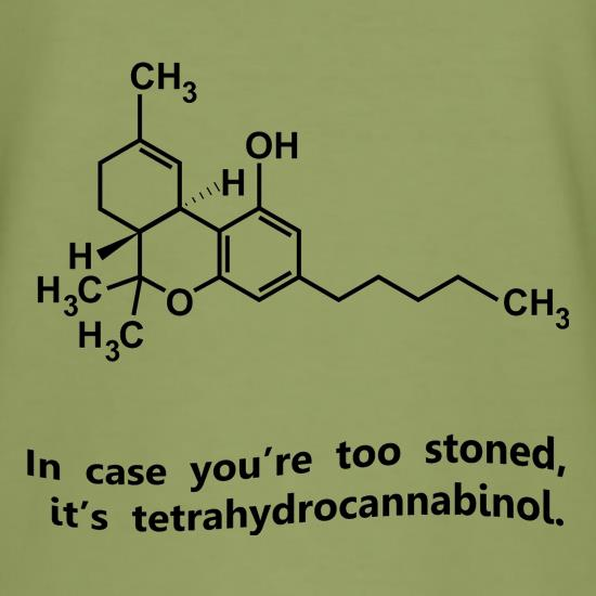 In case you're too stoned, it's tetrahydrocannabinol t shirt