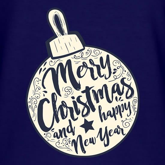 Merry Christmas Bauble t shirt